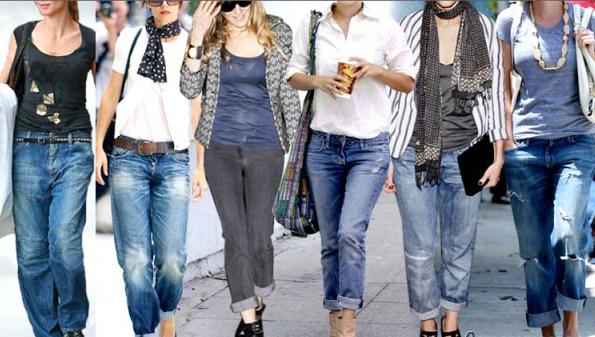 Рваные и потертые джинсы