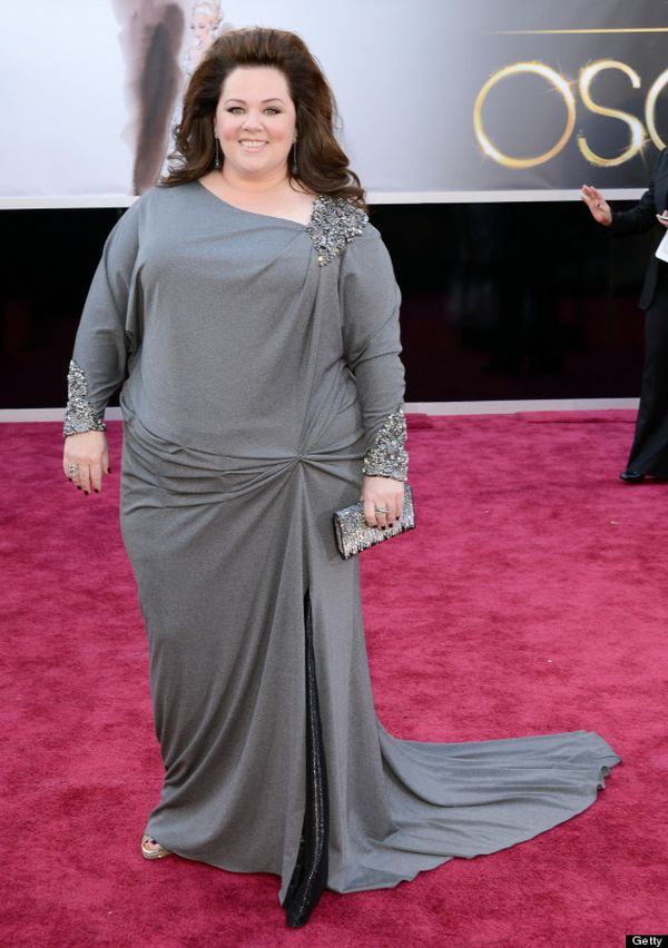 HOLLYWOOD, CA - FEBRUARY 24: Actress Melissa McCarthy arrives at the Oscars at Hollywood & Highland Center on February 24, 2013 in Hollywood, California. (Photo by Jason Merritt/Getty Images)