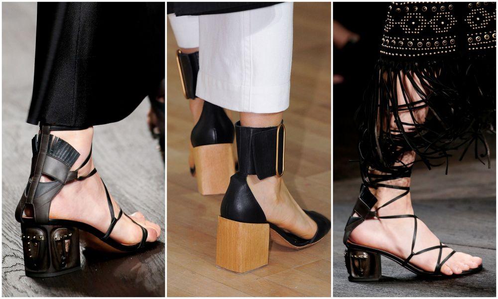 Шнуровка и квадратный каблук