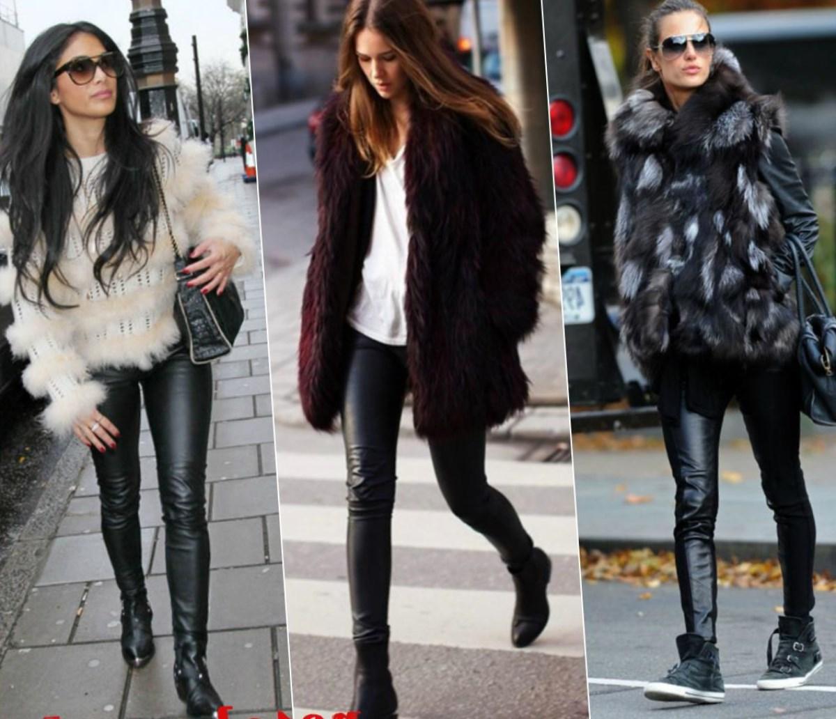 С чем носить кожаные леггинсы: подборка интересных образов с примерами