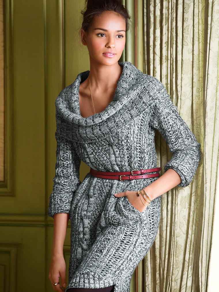 910c913080f4 С чем носить вязаное платье и как (много фото)