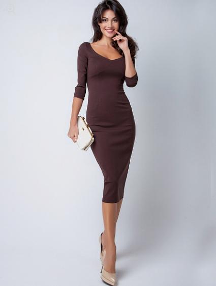 66aa9844539 С чем носить длинное трикотажное платье (ниже колена