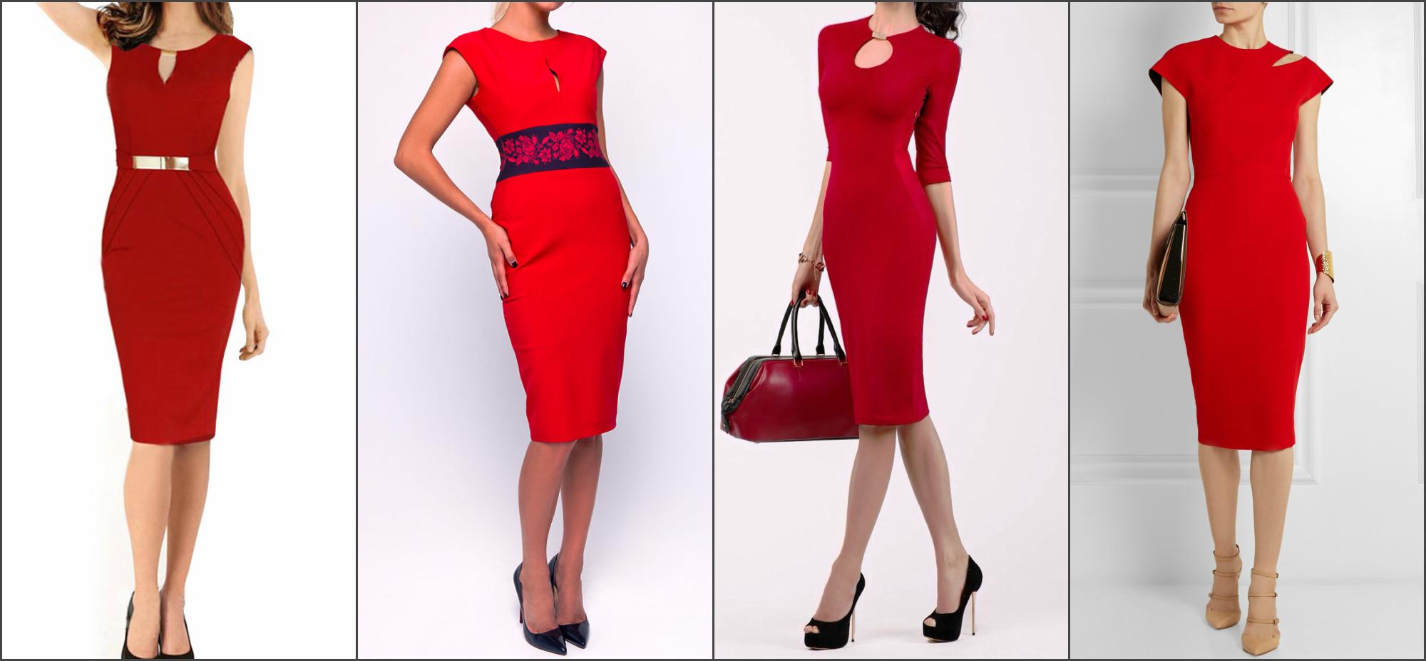 a86f48bfe2edc9c С чем носить красное платье: какие туфли надеть, с чем сочетать - фото