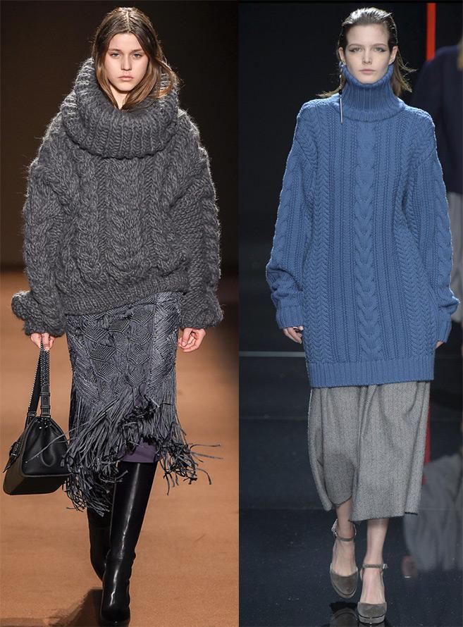 Объемные свитеры