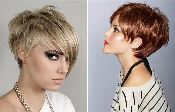 Стрижки на короткие волосы асимметрия фото модные