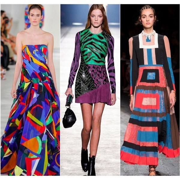 Платья с геометрическим рисунком