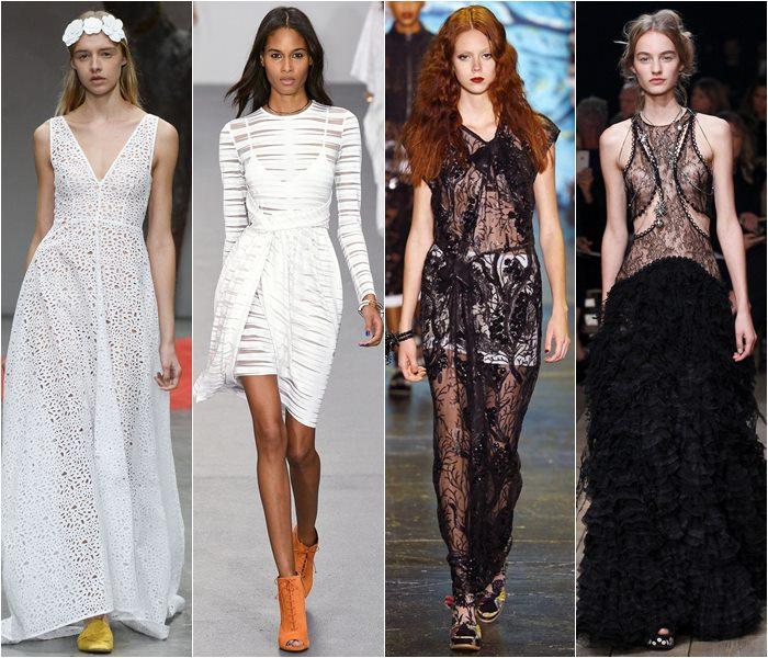 Платья из прозрачных тканей выглядят очень эффектно