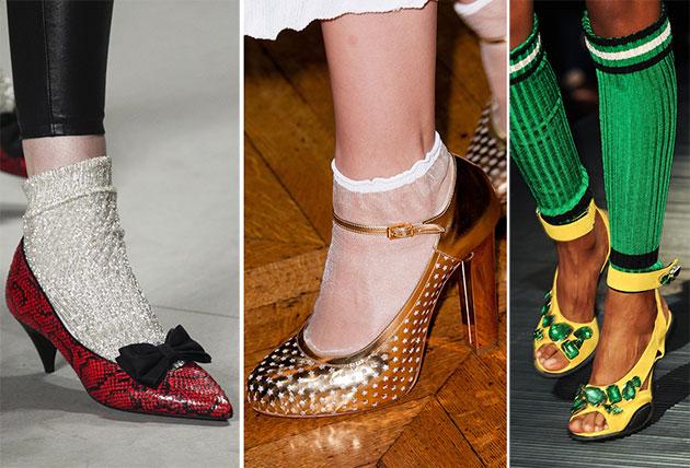 Модно носить туфли с носками