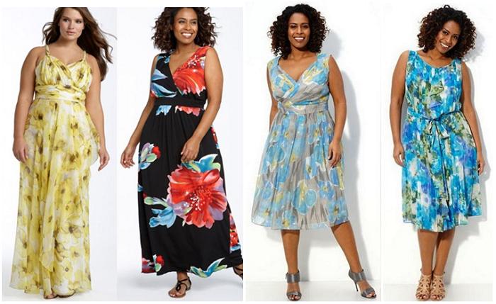 Мода для полных летнее платье