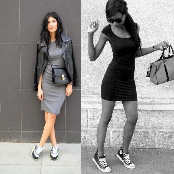 Кроссовки под длинное платье