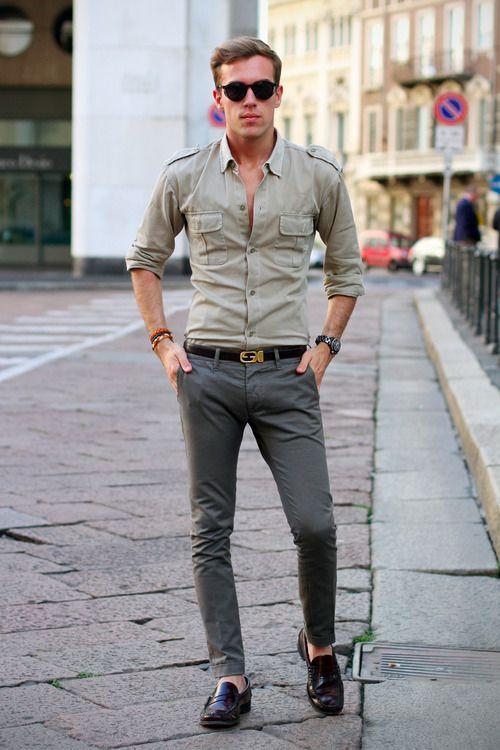 Что носить с брюками мужчине