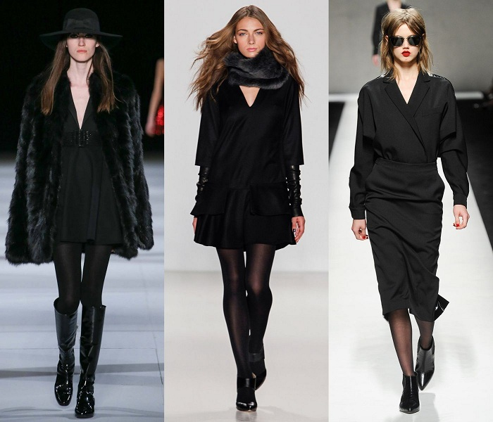 Колготки под черное платье