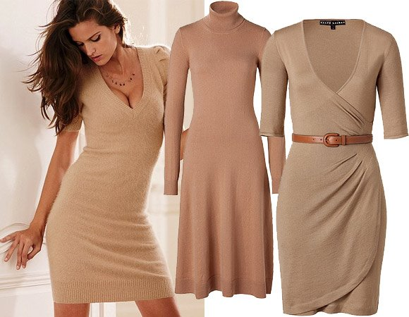 С чем носить длинное трикотажное платье
