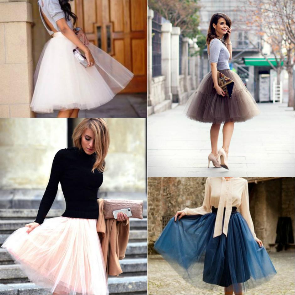 Современная юбка из фатина