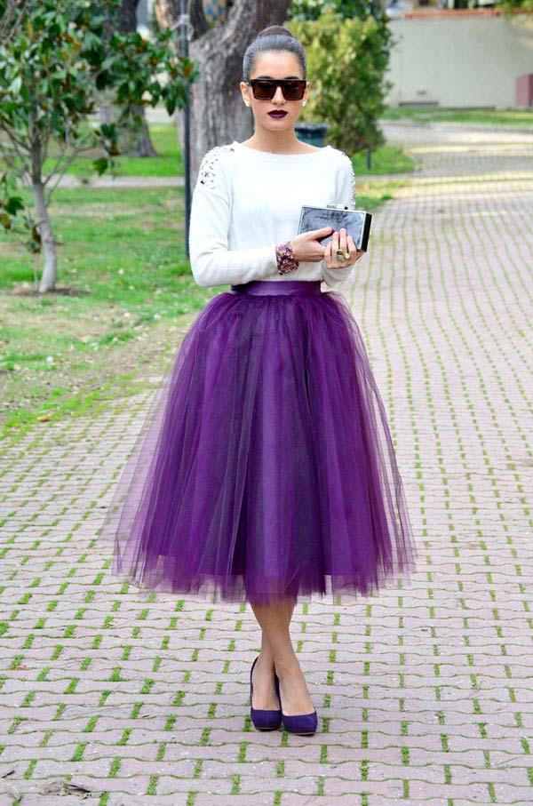 С чем носить длинную юбку пачку